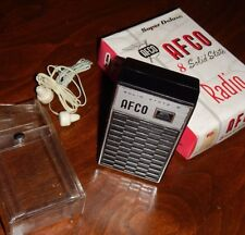 AFCO Super Deluxe 8 Solid State Transistor Radio Boxed VINTAGE - Working