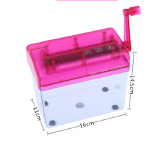 Mini A6  Paper Shredder Manual Paper Cutter Shredder Tabletop Shredder Pink