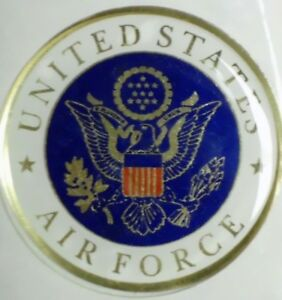 """USAF AIR FORCE FULL COLOR 2"""" INCH EPOXY DOME CAR DECAL STICKER EMBLEM"""