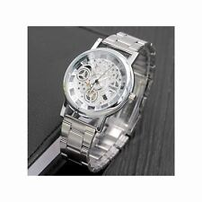 Smart Watch Silver Skeleton Present Gift Xmas Birthday Men Top Quality UK Seller