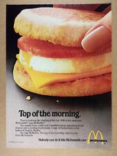 1980 McDonald's Egg McMuffin photo vintage print Ad