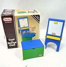 Little Tikes Place Miniatures Easel & Storage Chest Dollhouse Size Vintage 80s