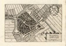 Antique Plan-WOERDEN-UTRECHT-NETHERLANDS-Blaeu-1649