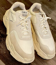 Balenciaga Triple S White Beige MeshSuede Lace Up Low Top Mens Sneakers Shoes 13