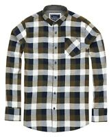 Men's Persuader - Long Sleeve Check Shirt Khaki/Navy
