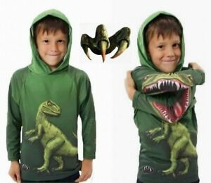 Child Kids Boys Dinosaur Print Hoodie Casual Cute Long Sleeve T-shirt