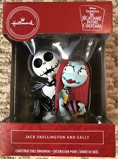 2020 Hallmark Christmas Tree Ornament Jack Skellington and Sally Nightmare New
