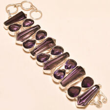 "African Amethyst Faceted Gemstone Fashion Jewelry Bracelet 7-9"" BB-55"