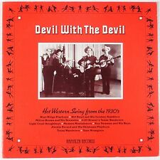DEVIL WITH THE DEVIL: Western Swing 1930s RED WAX Rambler LP Gulf Coast Blues