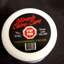 CBD Miracle Chiro Care Hemp Oil Topical Cream THC Free Muscle Joint Pain Relief