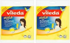 Vileda Sunsplash Absorbent Soft All Purpose Washable Cleaning Cloths - Pack of 4