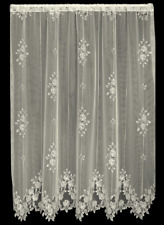 "Heritage Lace ECRU TEA ROSE Panel 60""W x 63""L - Made in USA!"