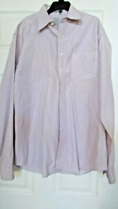 Mens GAP fitted striped XL 17-17 1/2 long sleeve shirt
