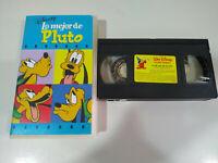 Lo Mejor de Pluto Walt Disney - VHS Cinta Español - 2T