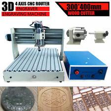 4Ejes CNC 3040T Máquina De Grabado Fresadora Taladro Engraving DIY Machine 400W