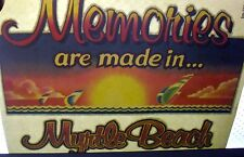 1970S *Memories Made In Myrtle Beach* T-Shirt *Iron-On* Transfer Lot 20 Glittery
