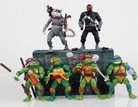 TMNT Teenage Mutant Ninja Turtles Figure Action Classic Collection Toy Set 6pcs