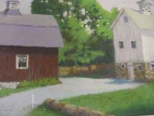 Dance of the Noroton Barns, Jackie Flatow, Org. Pastel,Silvermine, Westport, CT
