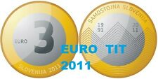 LA    COMMEMORATIVE   PIECE DE    3 €   SLOVENIE  2011          DISPONIBLE