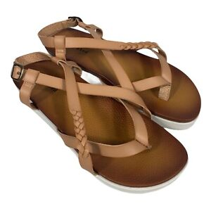 Not Rated Womens Sela Tan Thong Flat Sandals Shoes Size 9.5