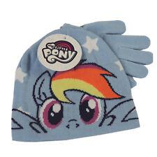 My Little Pony Beanie Hat & Pair of Gloves Childrens Kids Girls Winter Set 3-6yo Pink - Pinkie Pie
