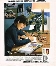 PUBLICITE ADVERTISING 064  1978  OPALIA  de MAZDA  l'oeuf lumière