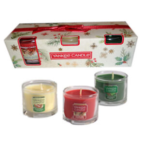 YANKEE CANDLE  3 GLASS MINI CANDLES  GIFT SET - IDEAL FOR EASTER
