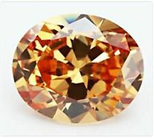 18.38CT UNHEATED CHAMPAGNE SAPPHIRE DIAMOND 13x18MM OVAL CUT VVS LOOSE GEMSTONE