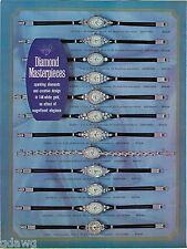 1969 ADVERTISEMENT 2 Pg Watches Diamond Hamilton Movement Debbi Rhea LauraBessie