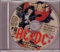 "AC/DC ""Hard As A Rock - Limited Edition Live Tracks"" Rare 3 Track PROMO CD RARE"
