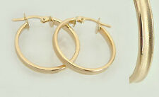 Large Hoop Earrings Gold 585 Timeless 3,4 cm 14 Carat