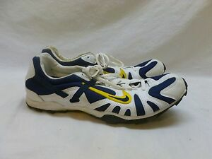 Men's Nike Track Cleats Spikes Shoes Blue White Yellow 13