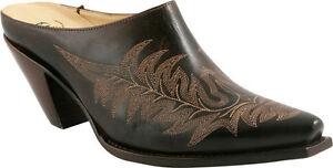 Charlie1Horse I6193 Walnut Leather Mule Size 6.5 B NEW