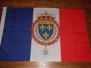 DRAPEAU  français royaume de france royal roi fleur de lys flag bandiera roi