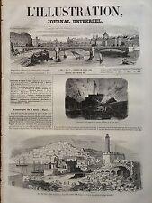 ILLUSTRATION 1845 N 108 CATASTROPHE A ALGER: L' EXPLOSION DES MAGASINS DU PEGNON