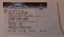 OLD TICKET CL Celtic Glasgow FC Scotland AC Milan Italy
