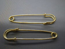 """20 -3"""" inch Gold Safety pins x large huge skirt kilt  tag broach Jewelry fashion"""