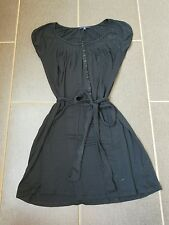 Gap Women's Black Summer Dress Medium Button Down LBD with Belt Soft Flowy