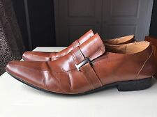 Aldo Men Man Gent Brown Leather Designer Dress Casual Shoe Size 8