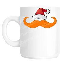 Christmas Ginger Moustache Funny Gift Mug shan764