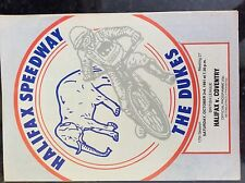 m3b ephemera 1981 october 3rd speedway programme halifax dukes v coventry