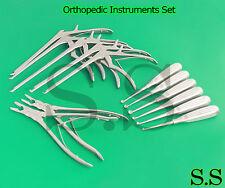 "Codman Kerrison Gubias 7 ""( 1,2,3,4,mm) Up & Bone Curetas Ortopédico Instrumento"