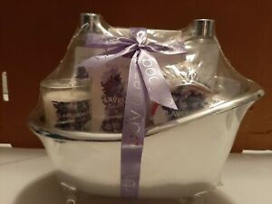 Women Bath And Body Works Spa Set Lavender Cream Lotion Bundle Gift Basket Lot