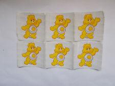 Vintage Smilemakers Sticker Sunshine Care Bear 6 pc Lot