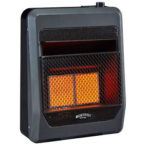 Bluegrass Living Natural Gas Vent Free Infrared Gas Heater With Blower and Feet