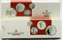 1988 MASTERPIECES IN SILVER Silver Coin Set