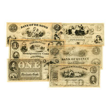 Set of 6 diff. reproduction currency US Northern States Civil War uniface