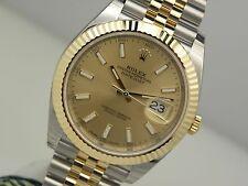 Rolex DATEJUST II 126333 Steel & Yellow Gold Jubilee Bracelet Champagne 41MM