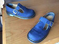 Vintage Dr Martens blue mary jane buckle shoes UK 5 EU 38 polley England
