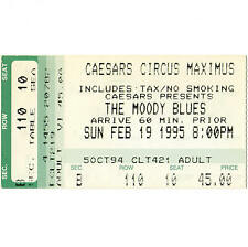 The Moody Blues Concert Ticket Stub Stateline Nv 2/19/95 Caesars Circus Maximus
